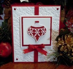 Holiday ornament by bookmama - Cards and Paper Crafts at Splitcoaststampers