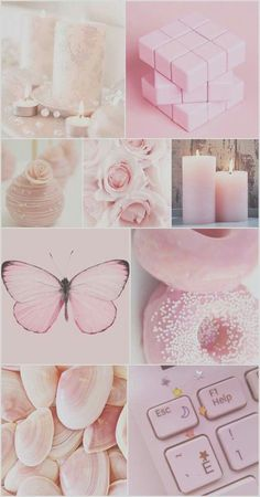 Pink collage mood board