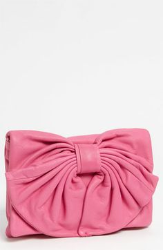 RED Valentino 'Bow' Leather Clutch | Nordstrom