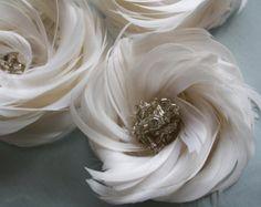 Tutorial de flores de pluma pluma flores B por jewelboxballerina