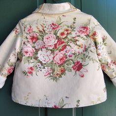 Linen Embroidered Baby Jacket Size 1 by JackieSpicer on Etsy