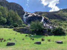 "Karin van Soest on Instagram: ""Gleninchaquin waterfall 🐏⛰💦"" Family Trips, Family Travel, Waterfall, Van, Mountains, Nature, Instagram, Family Days Out, Rain"