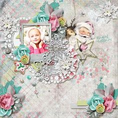 Do you believe in the Magic of Christmas ? I do believe in it. May all the sweet magic of Christmas conspire to gladden your hearts and fill every desire. This collection is created with soft and tender colors and has a slightly vintage look. It's versatile enough to be used as a Christmas kit, or as a winter one. It's totally up to you ! Play along with elements and overlays and give unique looks to your digital scrapbooking projects !