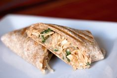 Thai Chicken Wrap. Recipe looks similar to the Thai chicken burrito from Northstar Cafe.