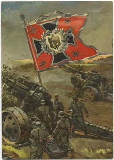 Flags/standards of the Wehrmacht, Artillery.postcard