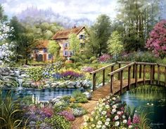 Cottage (Every man's dream home) God's promise for the righteous one - Isa. 65:21-25; Psalm 37:10,11,29