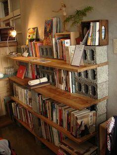 parpaing creux comment en faire des meubles fonctionnels parpaing planche en bois et planches. Black Bedroom Furniture Sets. Home Design Ideas