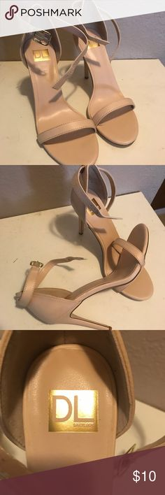 "Nude strappy heels 4"" Heel 8M Never worn. BNWOT or original packaging. Amazing thrift shop find. Only paid $15. Sprained my ankle before I was able to wear them:(  They need a new home:) Shoes Heels"