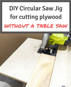 This circular saw jig will help you cut plywood straight, without a table saw! | woodworking | woodworking jigs | circular saw tips #DiyWoodworkingSimple Woodworking School, Learn Woodworking, Popular Woodworking, Woodworking Furniture, Woodworking Plans, Woodworking Projects, Diy Furniture, Woodworking Jigsaw, Woodworking Images