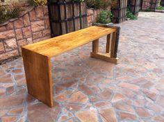 Oak loft style bench