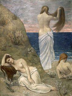 Pierre Puvis de Chavannes; Giovani ragazze in riva al mare; 1879; olio su tela; Musée d'Orsay, Parigi.