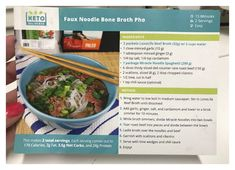 Keto Pho Recipe