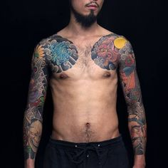 Done by HoriShou. He's tattooing at Needle Power Tattoo Studio, Taiwan. TattooStage.com - Rate & Review your tattoo artist and his studio. #tattoo #tattoos #ink