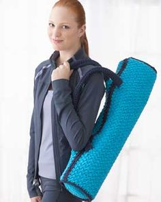 Crochet Yoga Mat Bag. I've been wanting to make one of these. Free Bernat pattern.