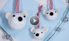 Watch Christmas Crafts: Polar Bear Ornaments in the Parents Video
