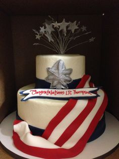 The promotion cake we decided on...was amazing! 5-flavor pound cake. Yum!