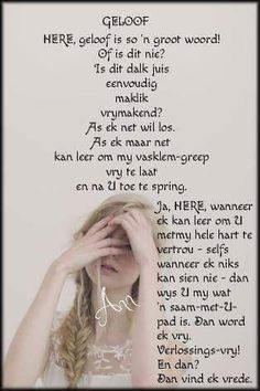 My Lord, Afrikaans, Bible Quotes, Favorite Quotes, Things To Think About, Prayers, Faith, Christian, Words