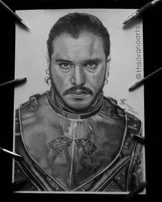 Jon Snow drawing by Silvano Arts