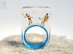 Summer breeze  summerlike beach figure ring por GeschmeideUnterTeck, €79.00