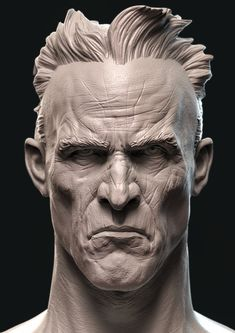 Sculpture Head, Roman Sculpture, Character Modeling, Character Art, Character Design, Human Anatomy Drawing, Anatomy Art, Anatomy Sculpture, Black Comics