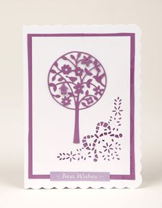 Doreen Rawlinson's used the Lollipop Tree die free with issue 9 of Die-Cutting Essentials to create this elegant card