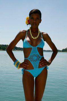 Miss Turquoise Crochet Monokini