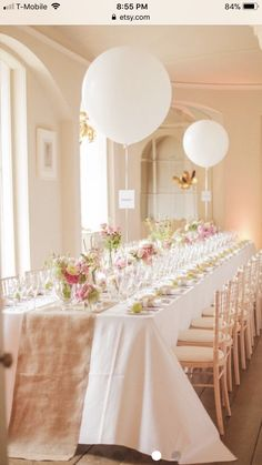 Ideas For Wedding Decorations Table Settings Bridal Musings Baby Shower Table Decorations, Wedding Decorations, Elegant Bridal Shower, Balloon Decorations, White Bridal Shower, Quinceanera Decorations, Floral Decorations, Ballon Rose, Dream Wedding