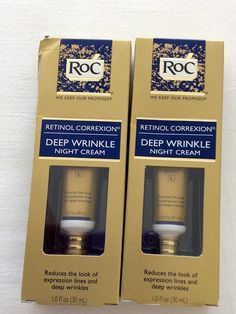 2 Pack - RoC Retinol Correxion Deep Wrinkle Night Cream 1.1 fl. oz (33ml) * For more information, visit image link. (This is an Amazon affiliate link)