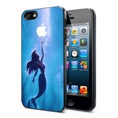 THE LITTLE MERMAID APPLE ARIEL MERMAID - iPhone 4 Case, iPhone 4s Case and iPhone 5 case Hard Plastic Case FDL