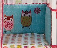 Kidsline Zutano Owls Crib Bumper
