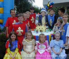 lots of ideas for medieval knight birthday party ($$)