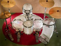"""Ischer """"Pocket Zoom"""" drums - flexible, steplessly extendable drums, which makes undreamt-of sound variety possible."""