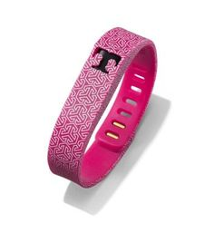 Tory Burch for Fitbit Silicone Printed Bracelet - FUCHSIA MULTI/SHINY BRASS. Surprised that Tory Burch was the first but this is VERY cool!