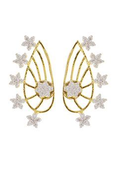 Golden Finish with Star Ear-Cuff Style Earring