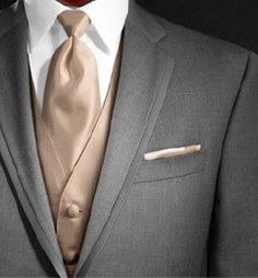 Wedding Suits potential wedding color for guys Taupe Wedding, Tuxedo Wedding, Wedding Men, Wedding Groom, Wedding Suits, Wedding Colors, Dream Wedding, Wedding Ideas, Gothic Wedding