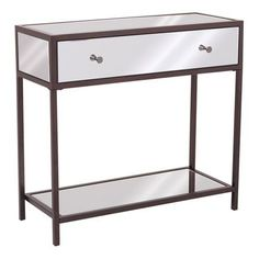 Ospd Designs Marquis Foyer Table, Red