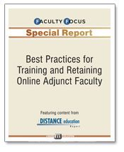 Best Practices for Training and Retaining Online Adjunct Faculty | Faculty Focus