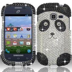 INSTEN For Samsung Galaxy Discover S730g/Galaxy Centura S738c Full Diamond Case - Panda Bear