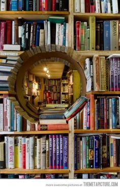 Little window to secret reading room…
