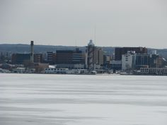 Downtown from across the frozen bay