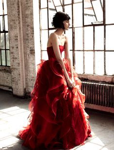 When Lennie was working in Weed he saw a lady in a red dress and wanted to touch the dress.  Lennie would probably want to feel this red dress.