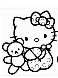 In This Coloring Page Hello Kitty Is Having Fun Playing With A Bubble Blower What Cute Picture
