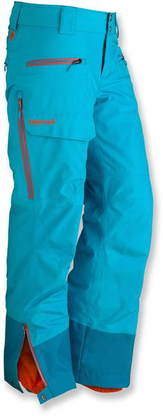 Love this blue! Marmot Freerider Insulated Pants in Sea Glass.