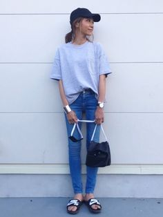 kayoさんのコーディネート Modest Outfits, Simple Outfits, Hair Arrange, Capsule Wardrobe, Spring Summer Fashion, Dressing, Normcore, Style Inspiration, Summer Dresses
