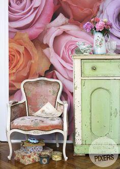 Wall Mural Pastel Roses