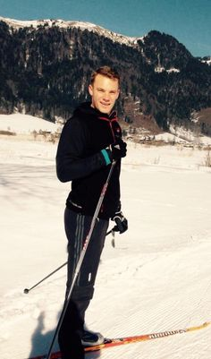 Oh my gosh, yes. Manu cross-country skiing, 5.03.15.
