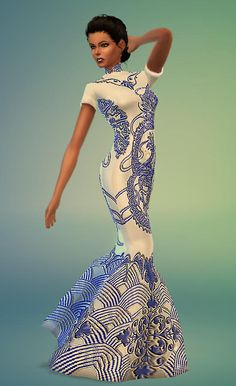 Fashion dresses and swimsuits at Sim-o-Matic via Sims 4 Updates