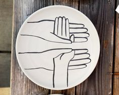 Geoff McFetridge...Heath Ceramics  at 'My Head Disappears When My Hands Are Thinking' Show