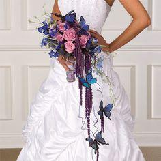 Butterfly Cascade Bridal Bouquet