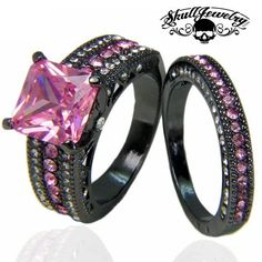 'Principessa Rosa' Pink Sapphire Inspired 10KT Black Gold Filled Engagement/Wedding Ring LIMITED EDITION. Once they sell out they are gone forever! NO OTHER ...